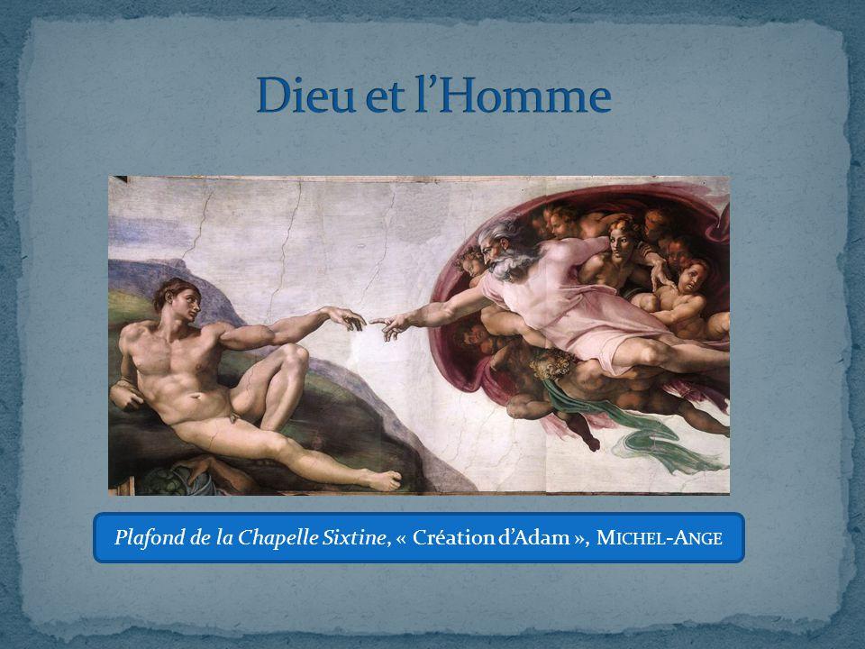Plafond de la Chapelle Sixtine, « Création d'Adam », Michel-Ange
