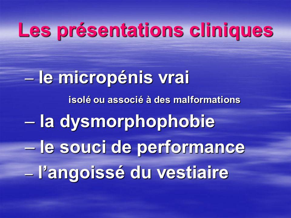 Les présentations cliniques