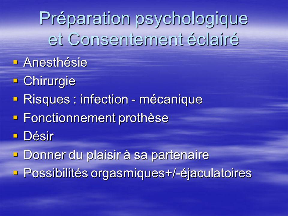 Préparation psychologique et Consentement éclairé
