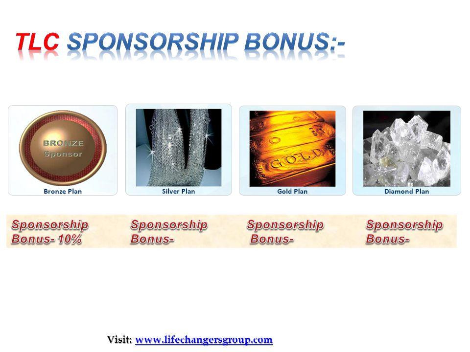 tlc Sponsorship bonus:-