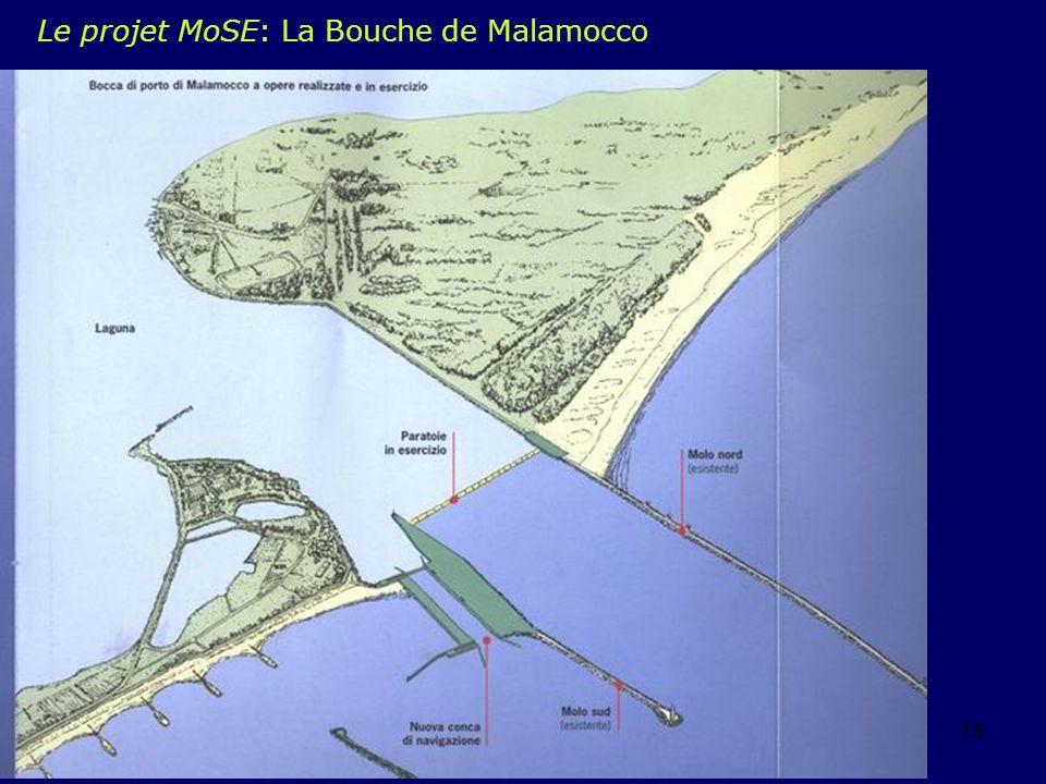 Le projet MoSE: La Bouche de Malamocco