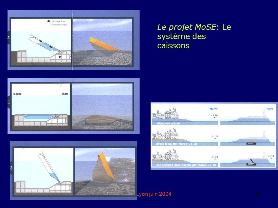 Le projet MoSE: Le système des caissons