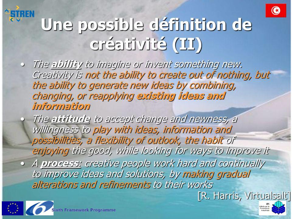 Une possible définition de créativité (II)