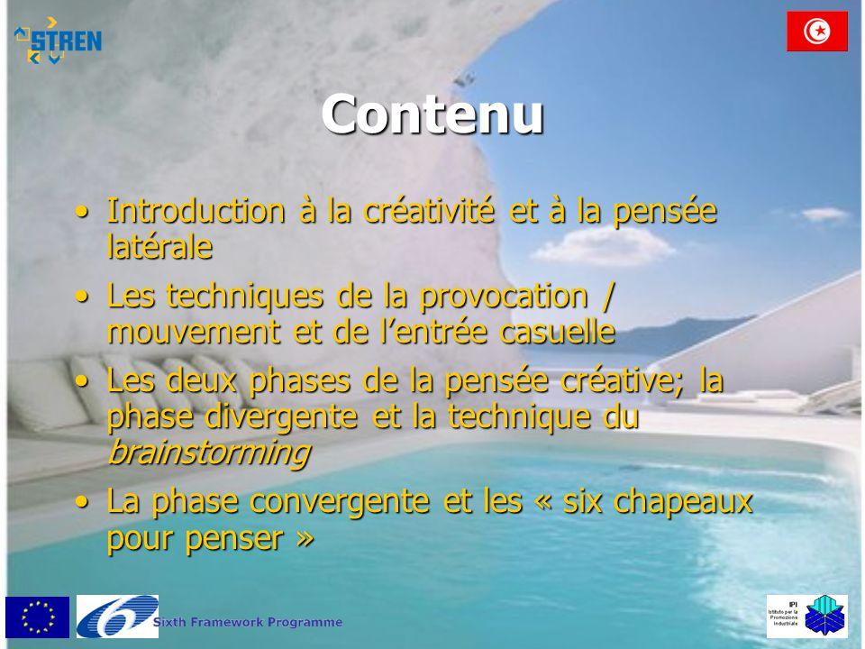 Contenu Introduction à la créativité et à la pensée latérale