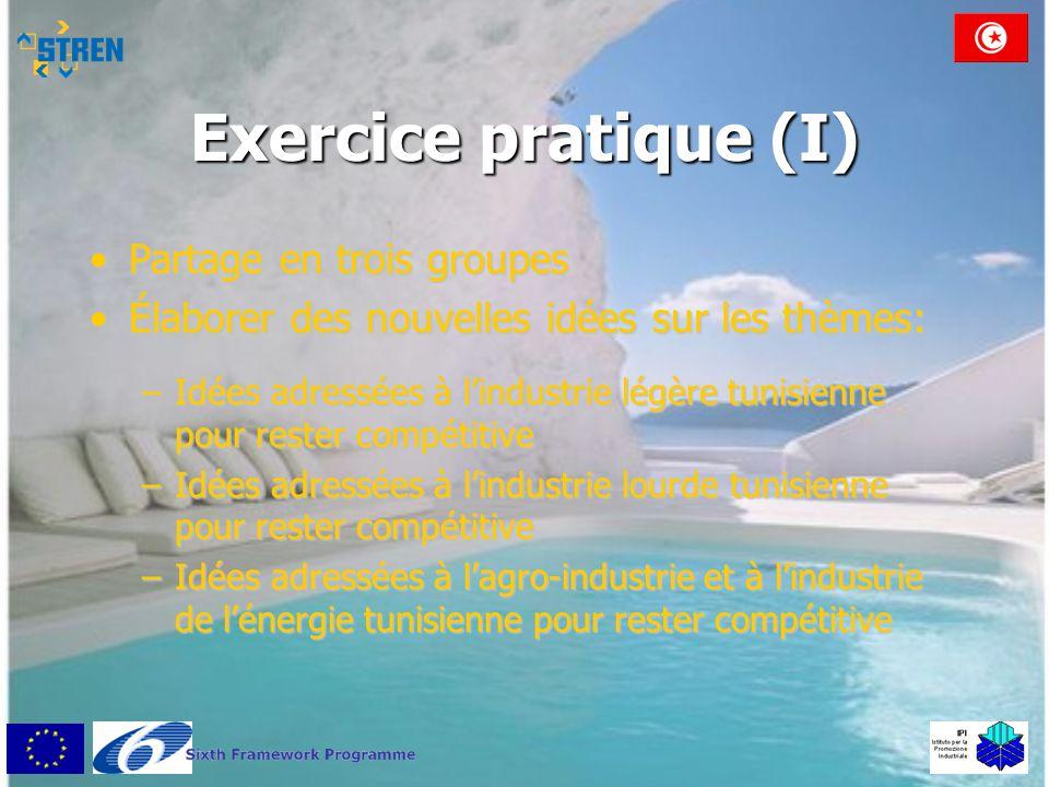 Exercice pratique (I) Partage en trois groupes