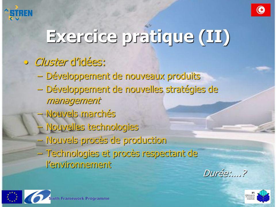 Exercice pratique (II)