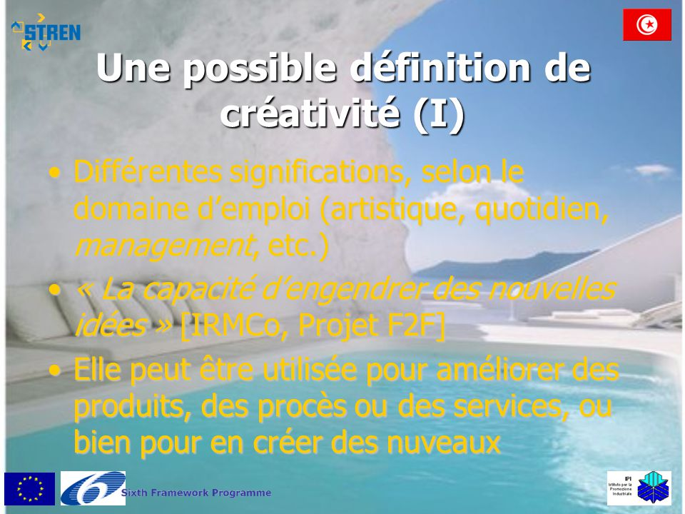 Une possible définition de créativité (I)