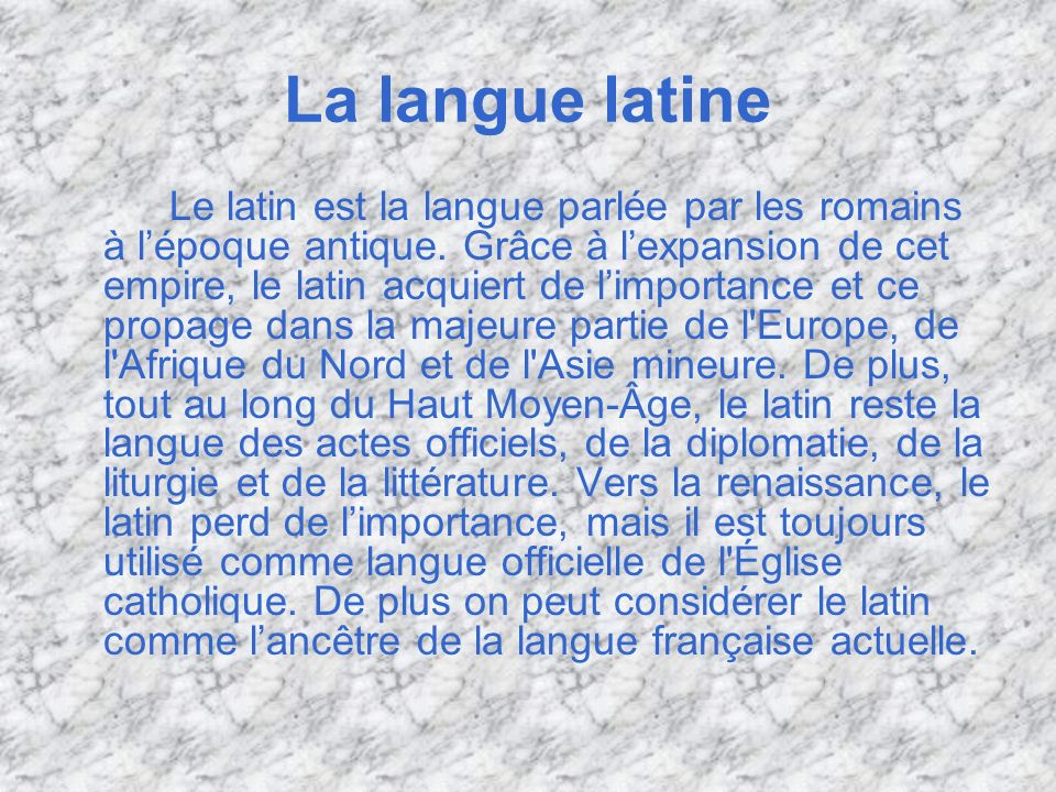 La langue latine