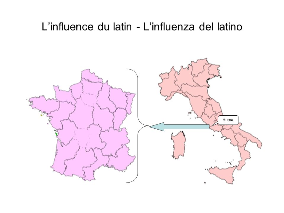 L'influence du latin - L'influenza del latino