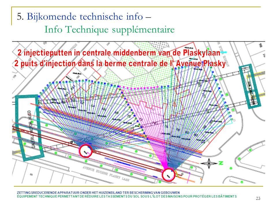5. Bijkomende technische info – Info Technique supplémentaire