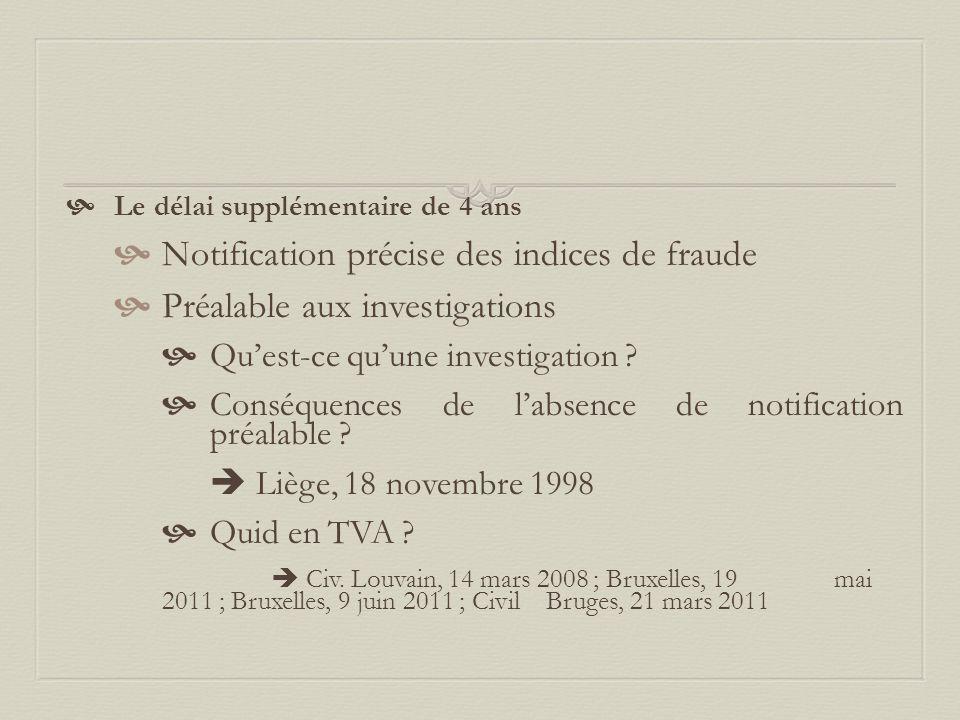 Notification précise des indices de fraude