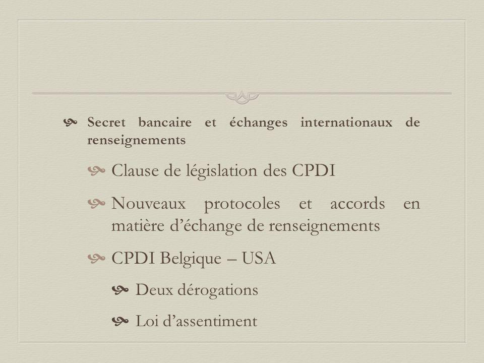 Clause de législation des CPDI