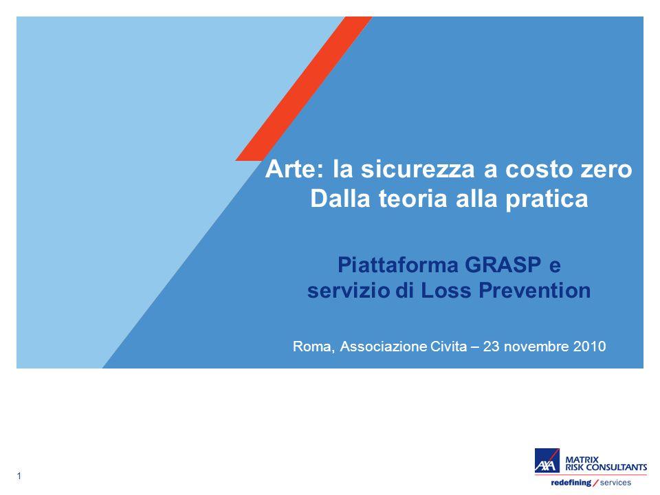Arte: la sicurezza a costo zero Dalla teoria alla pratica Piattaforma GRASP e servizio di Loss Prevention Roma, Associazione Civita – 23 novembre 2010