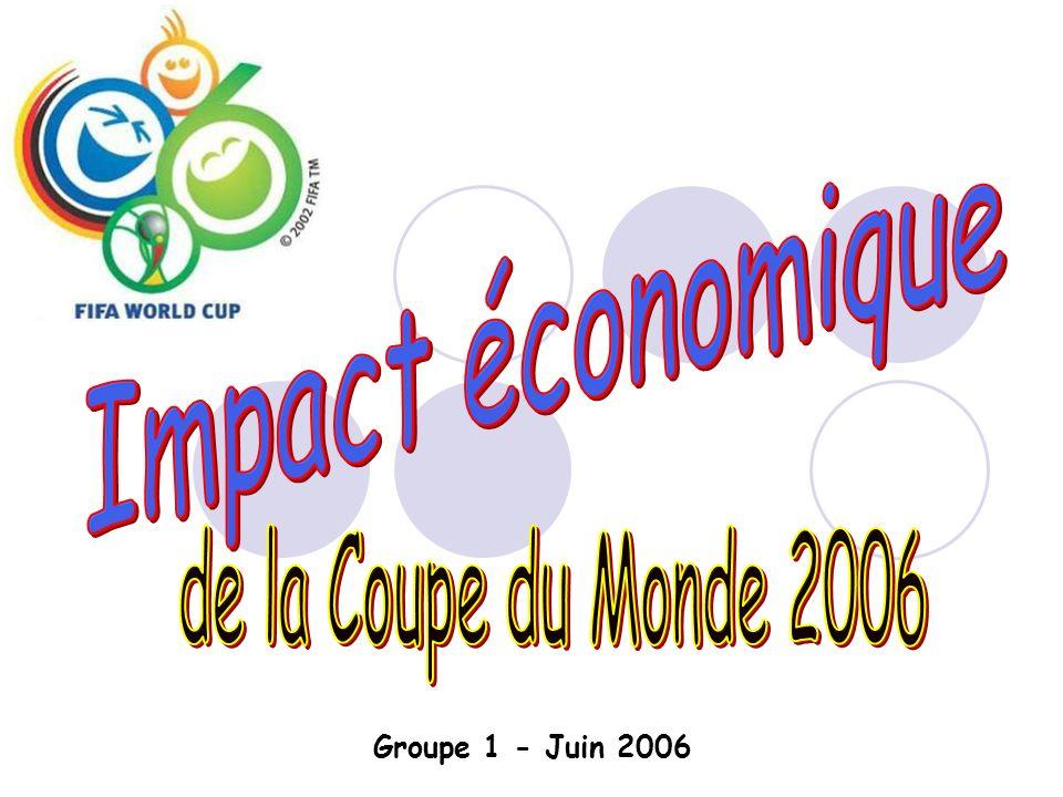 Impact économique de la Coupe du Monde 2006 Groupe 1 - Juin 2006