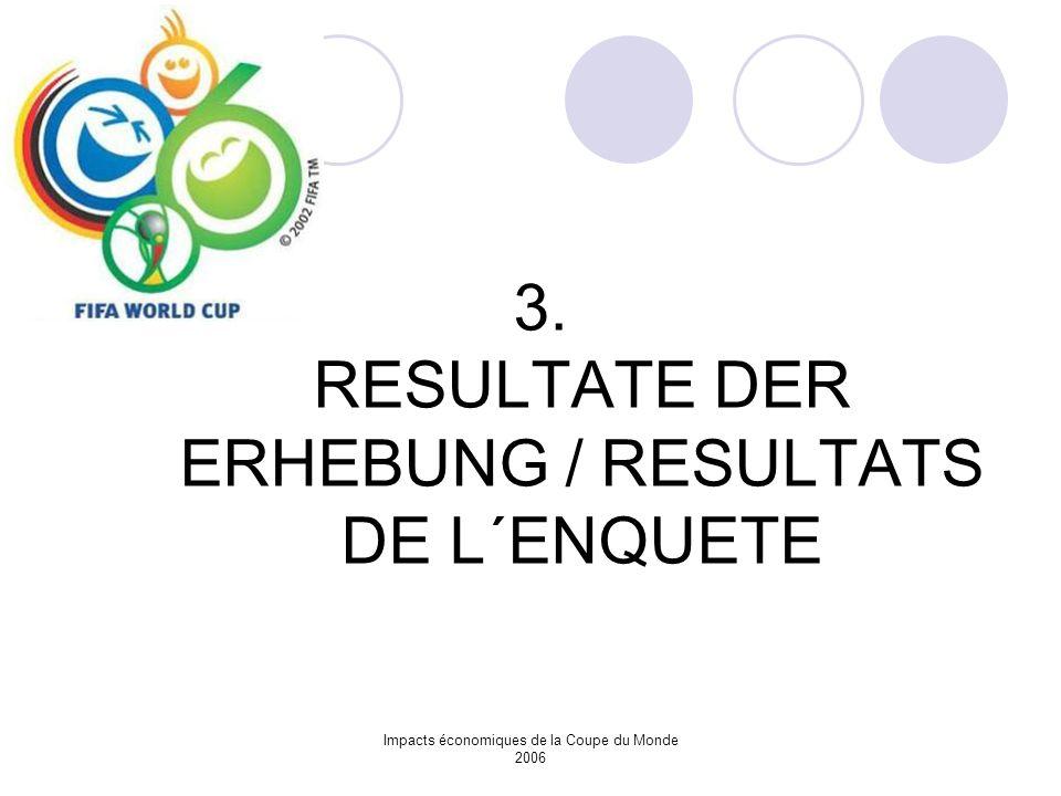 3. RESULTATE DER ERHEBUNG / RESULTATS DE L´ENQUETE