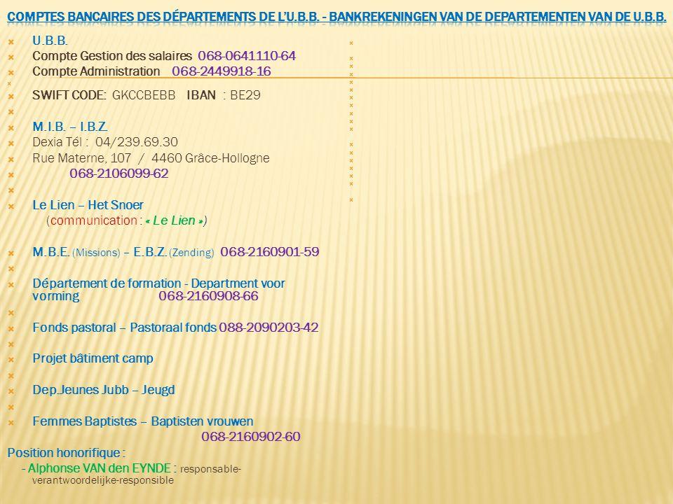 Compte Gestion des salaires 068-0641110-64