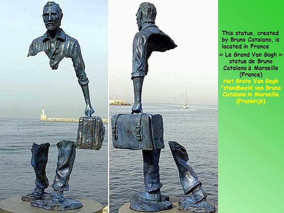 « Le Grand Van Gogh » statue de Bruno Catalano à Marseille (France)