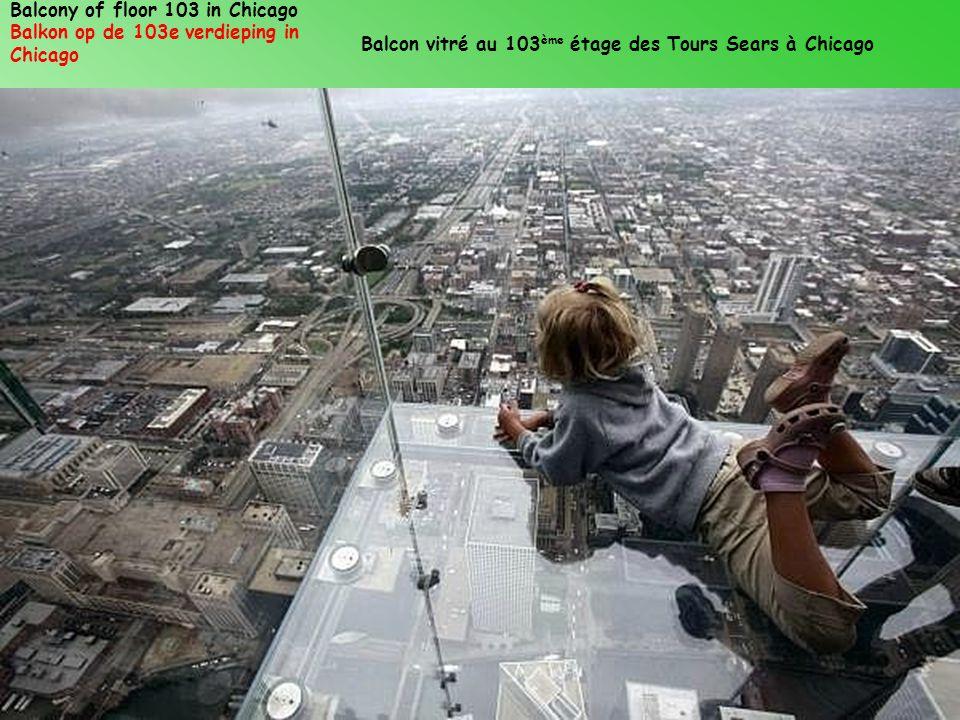 Balcony of floor 103 in Chicago