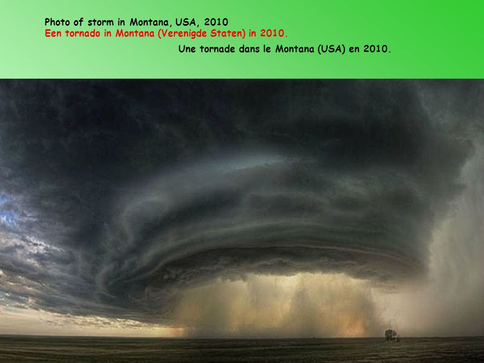 Photo of storm in Montana, USA, 2010