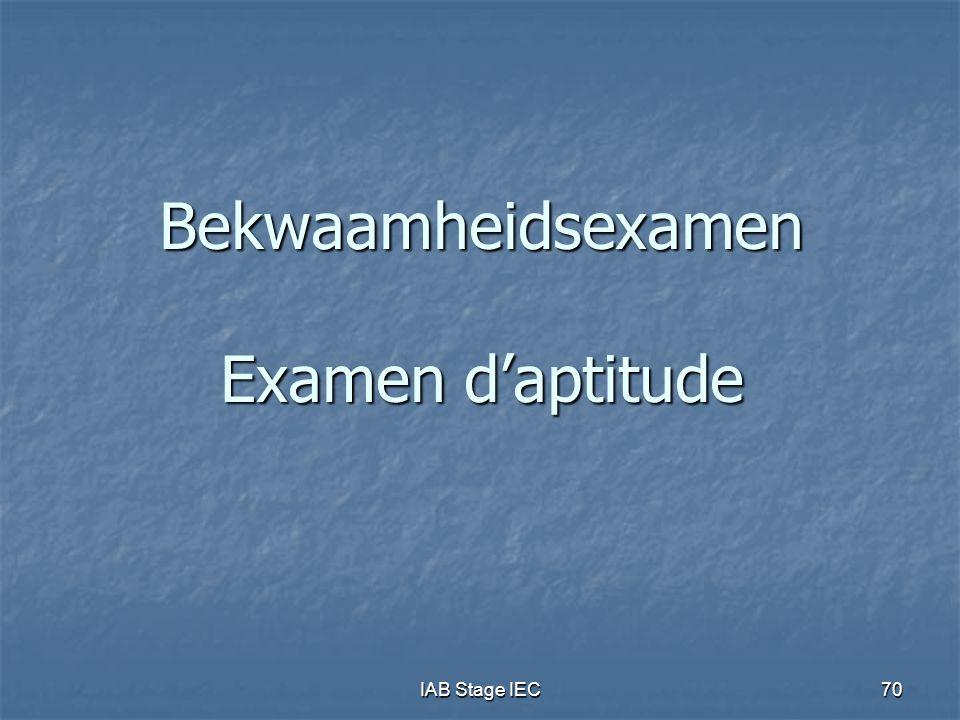 Bekwaamheidsexamen Examen d'aptitude