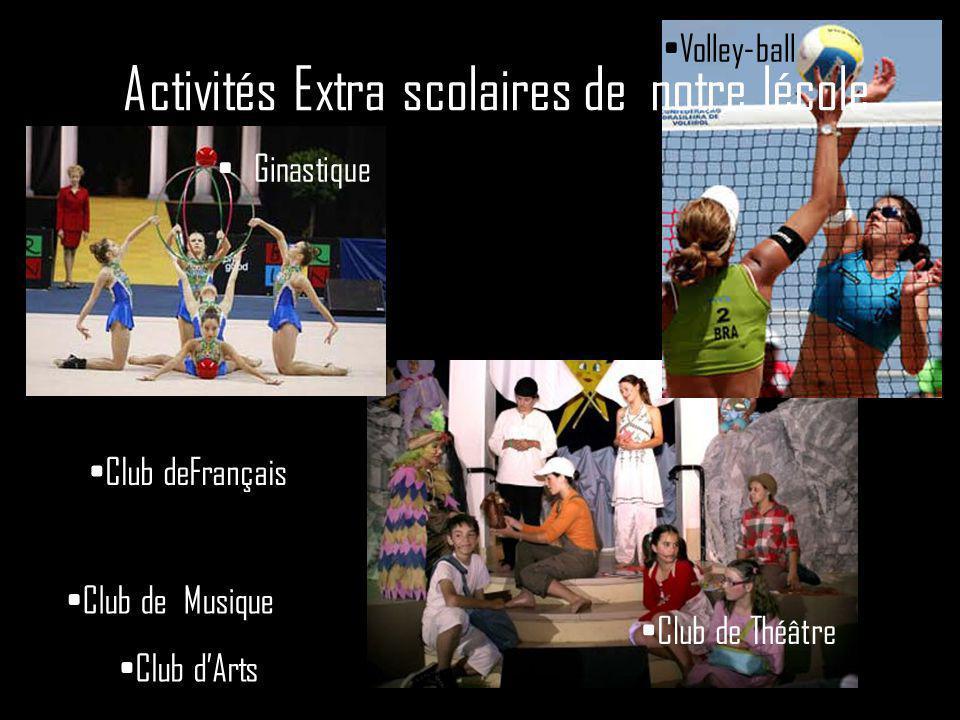Activités Extra scolaires de notre lécole