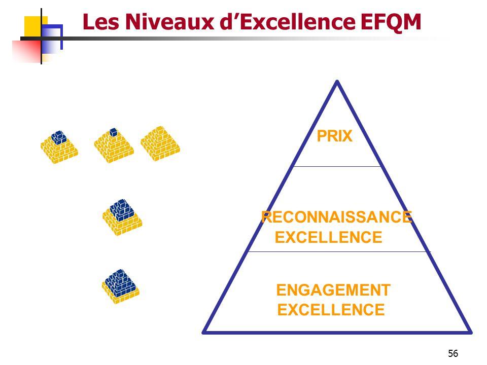 Les Niveaux d'Excellence EFQM