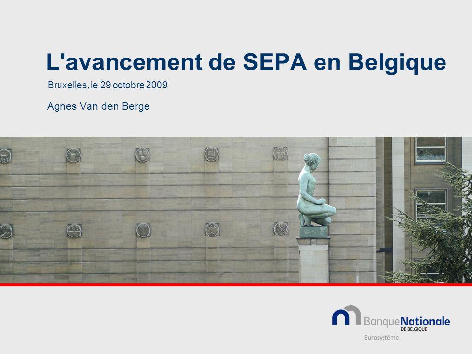 L avancement de SEPA en Belgique