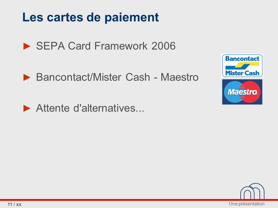 Les cartes de paiement SEPA Card Framework 2006