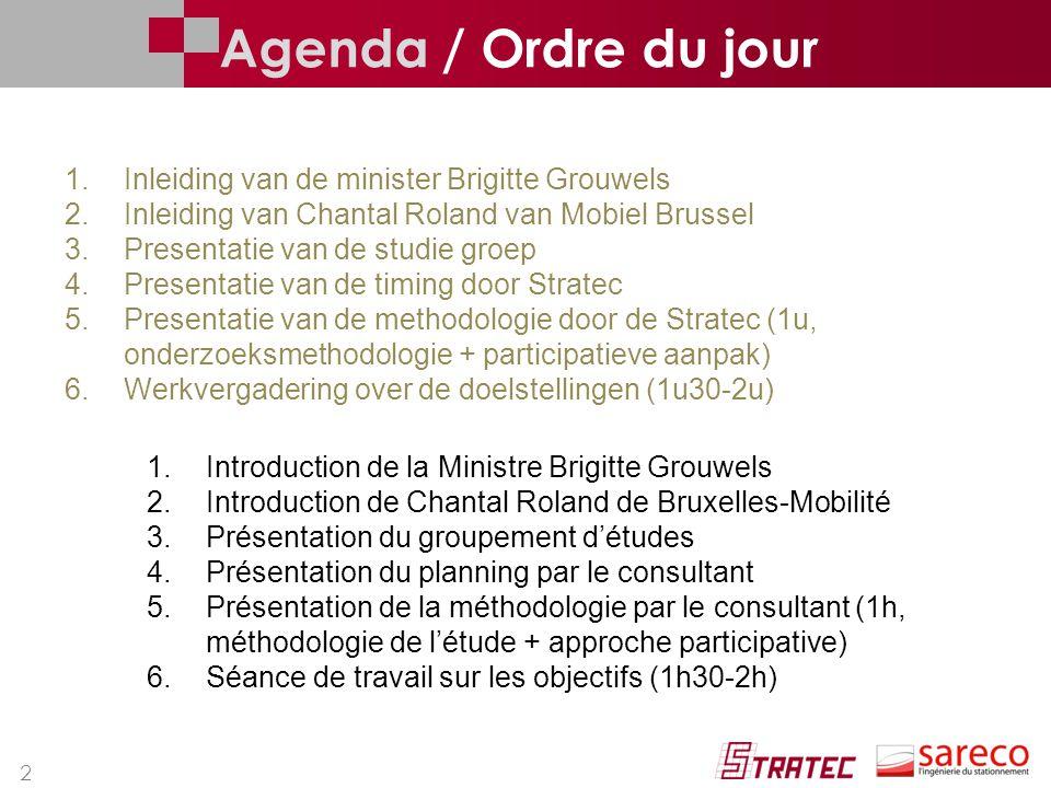 Agenda / Ordre du jour Inleiding van de minister Brigitte Grouwels