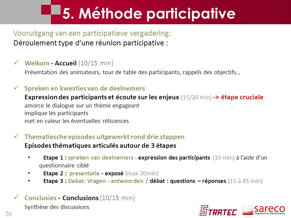 5. Méthode participative