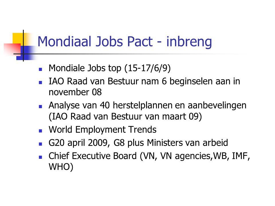 Mondiaal Jobs Pact - inbreng