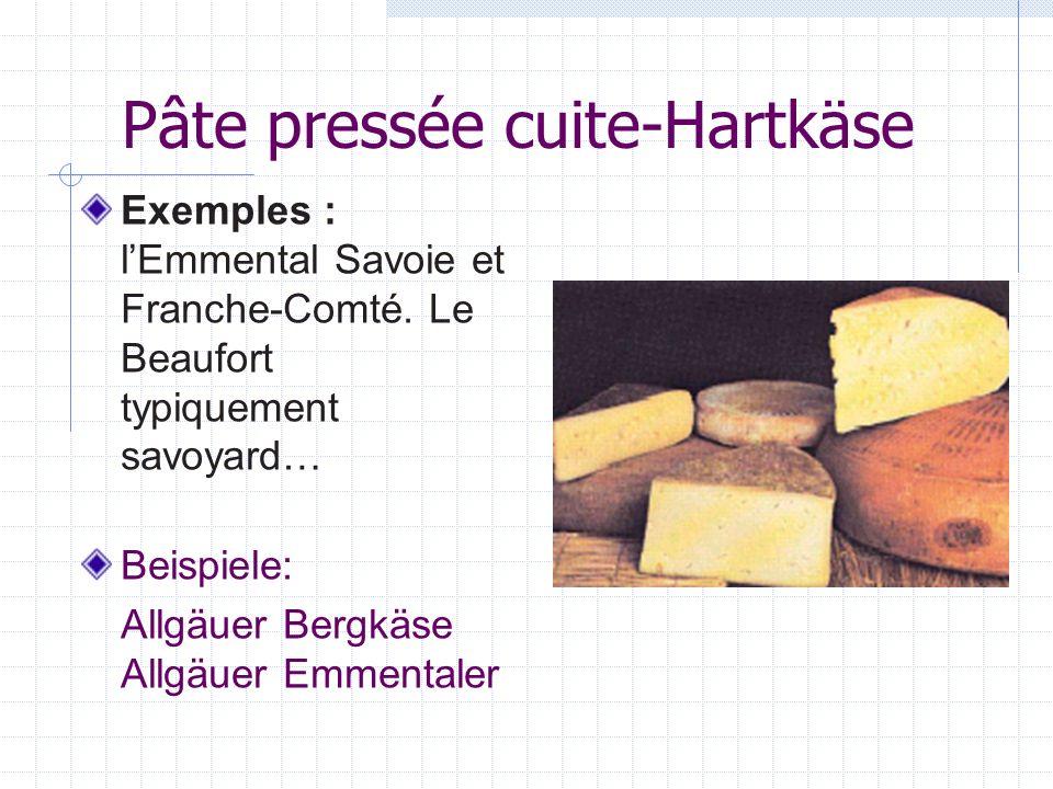 Pâte pressée cuite-Hartkäse