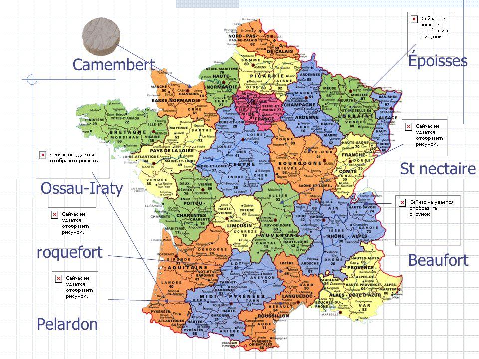 Époisses Camembert St nectaire Ossau-Iraty roquefort Beaufort Pelardon