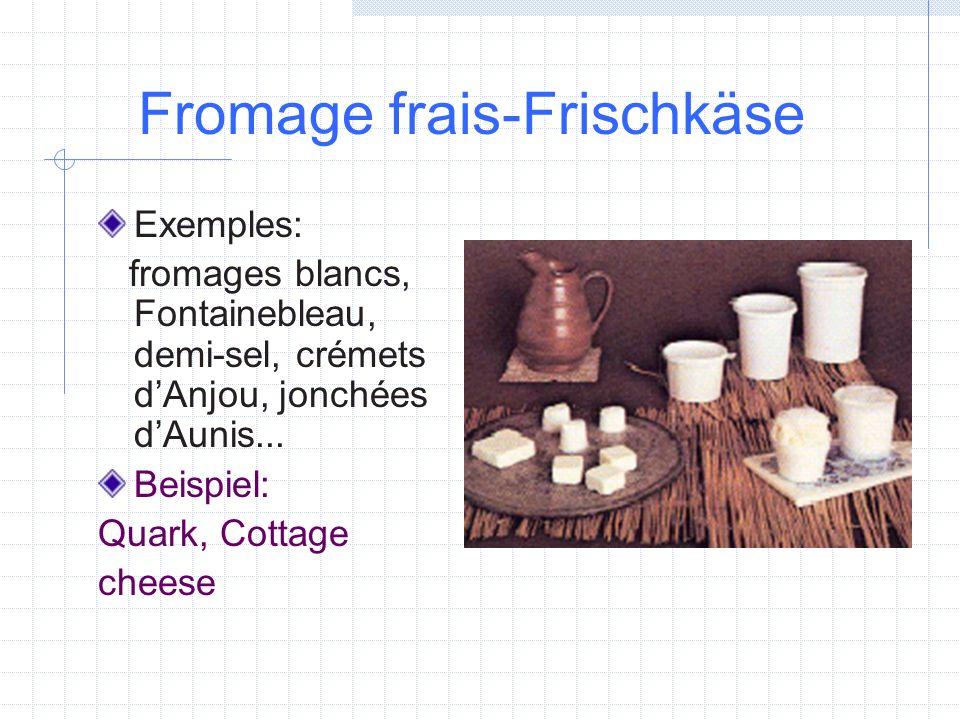 Fromage frais-Frischkäse