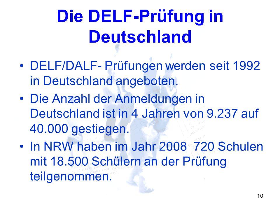 Die DELF-Prüfung in Deutschland