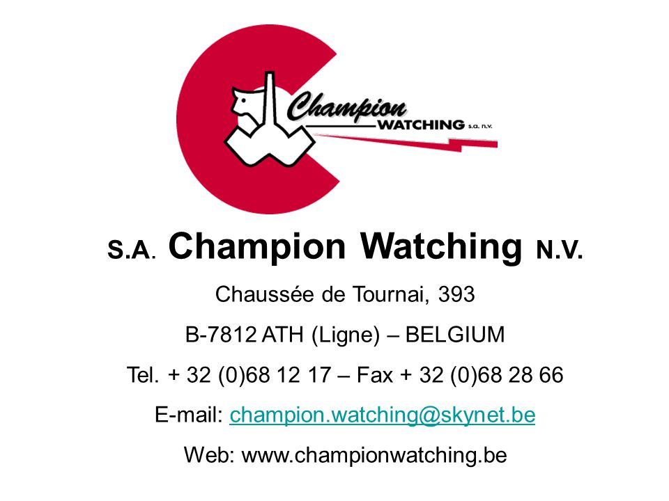S.A. Champion Watching N.V.