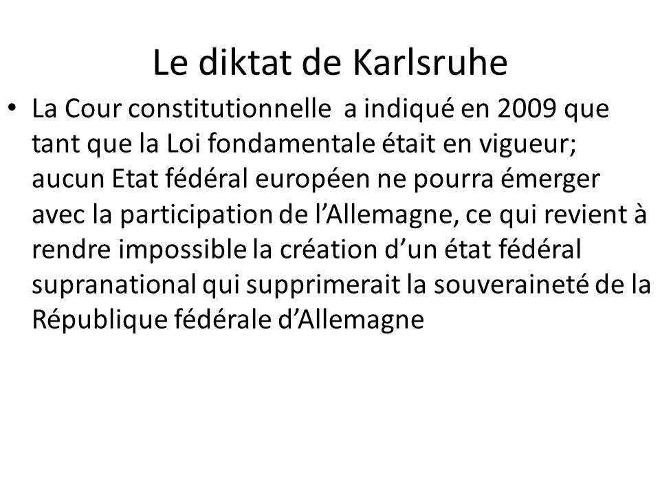 Le diktat de Karlsruhe
