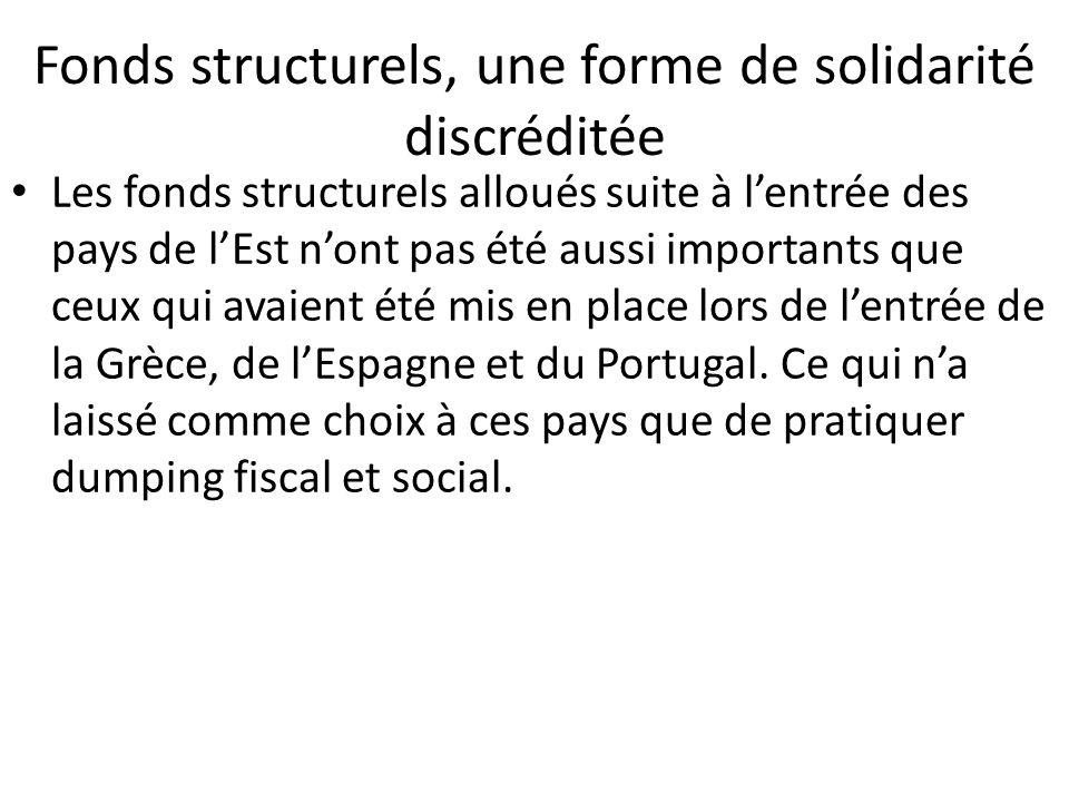 Fonds structurels, une forme de solidarité discréditée