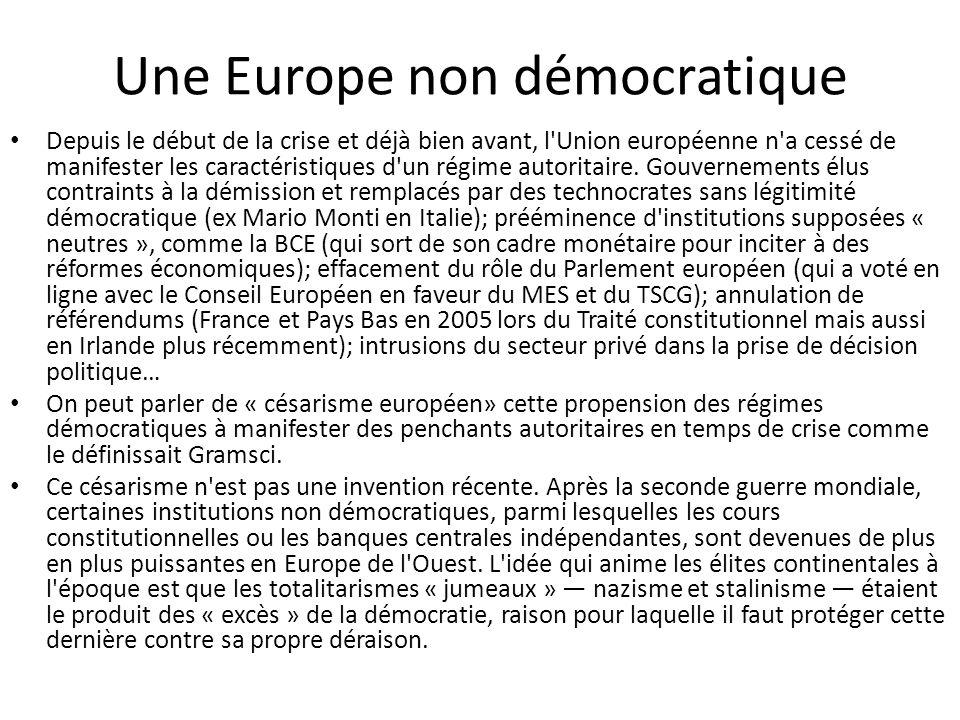 Une Europe non démocratique
