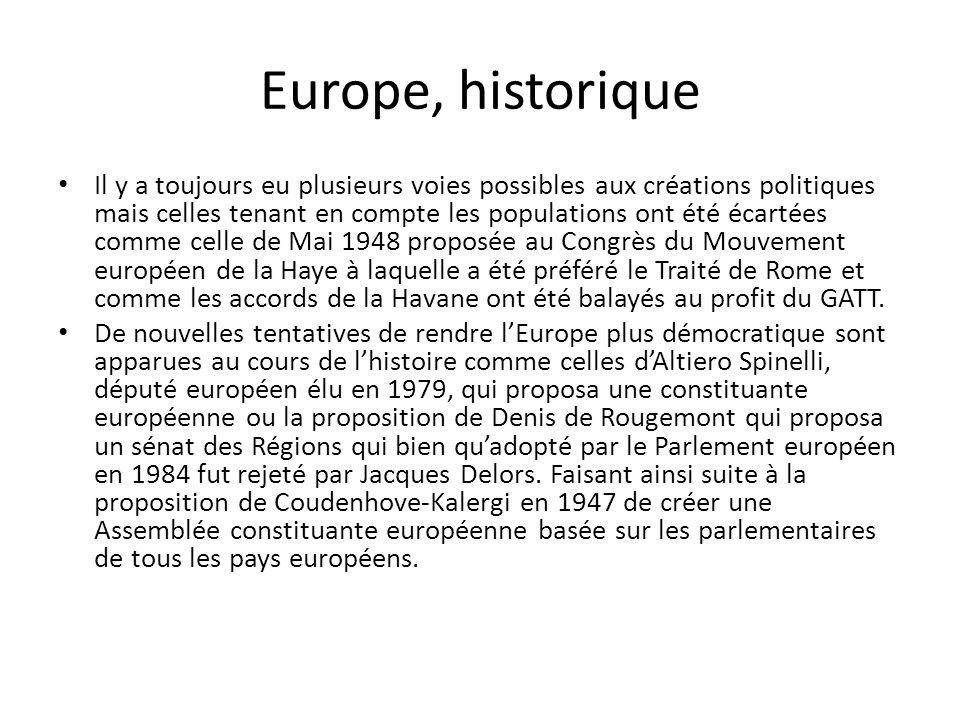 Europe, historique