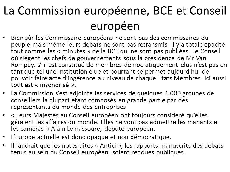 La Commission européenne, BCE et Conseil européen