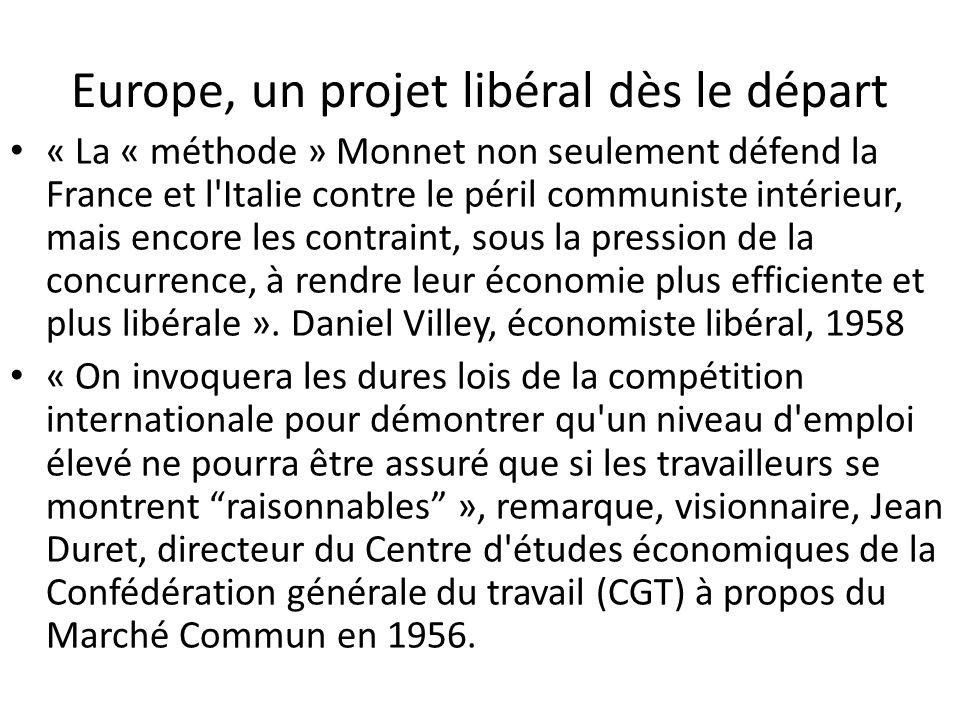 Europe, un projet libéral dès le départ