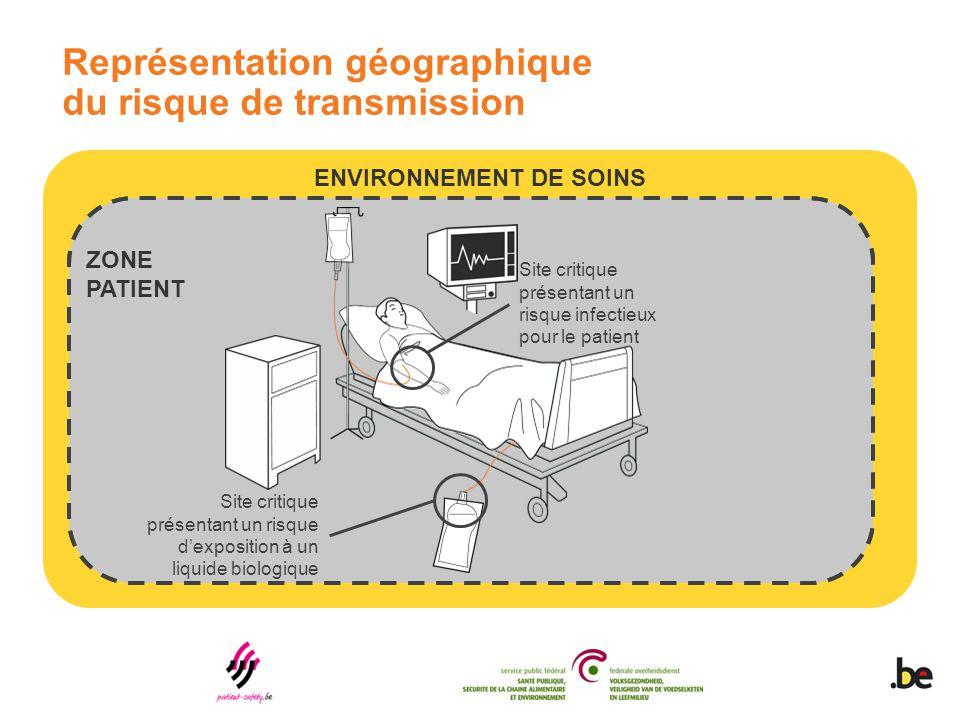 Représentation géographique du risque de transmission