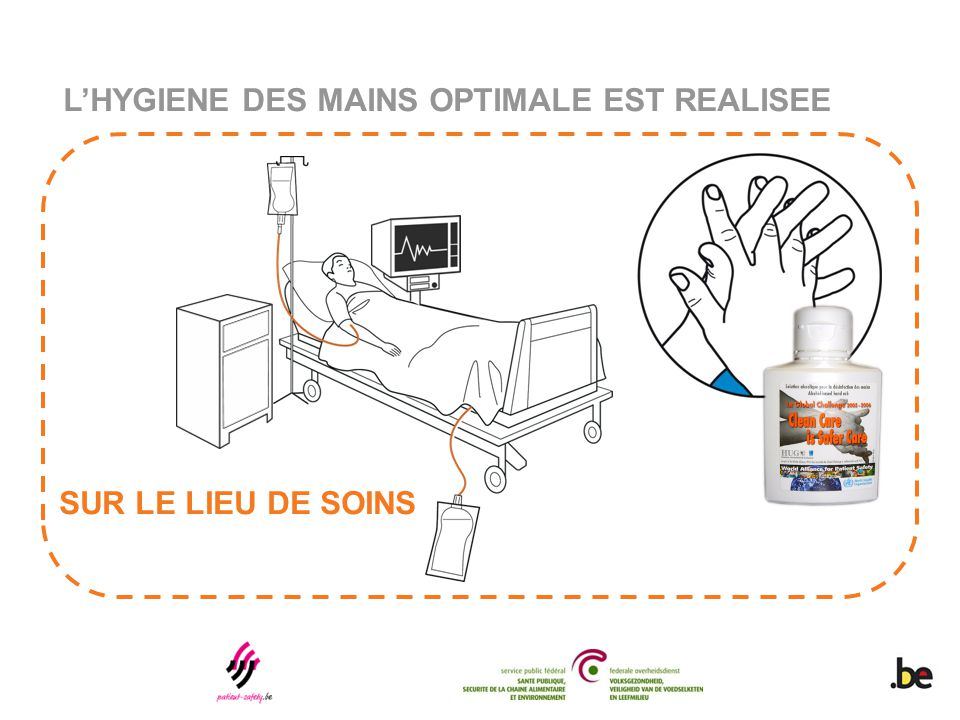L'HYGIENE DES MAINS OPTIMALE EST REALISEE