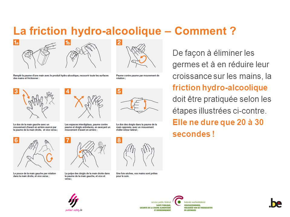 La friction hydro-alcoolique – Comment