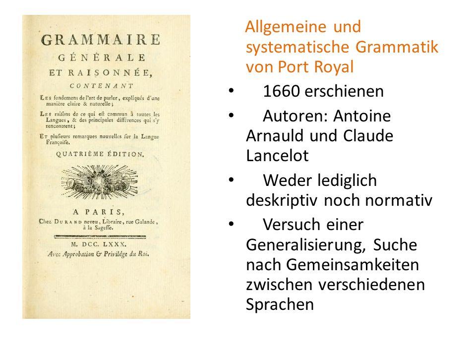Allgemeine und systematische Grammatik von Port Royal