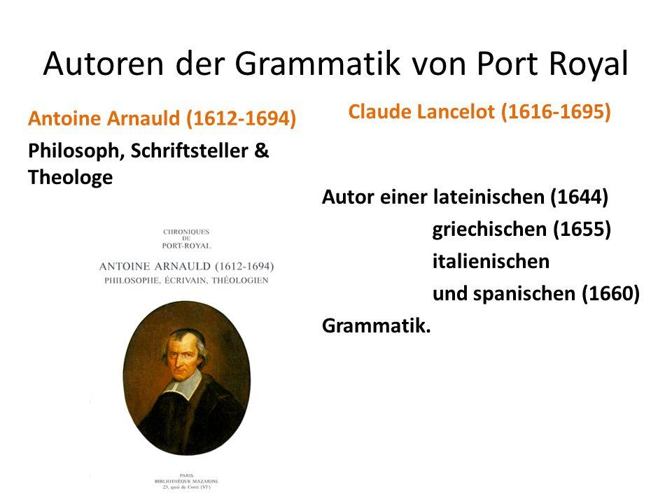 Autoren der Grammatik von Port Royal