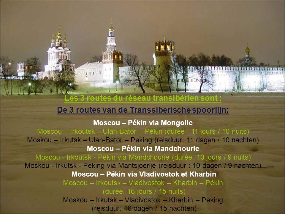 Les 3 routes du réseau transibérien sont :