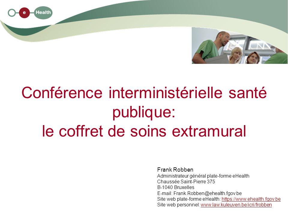 Conférence interministérielle santé publique: le coffret de soins extramural