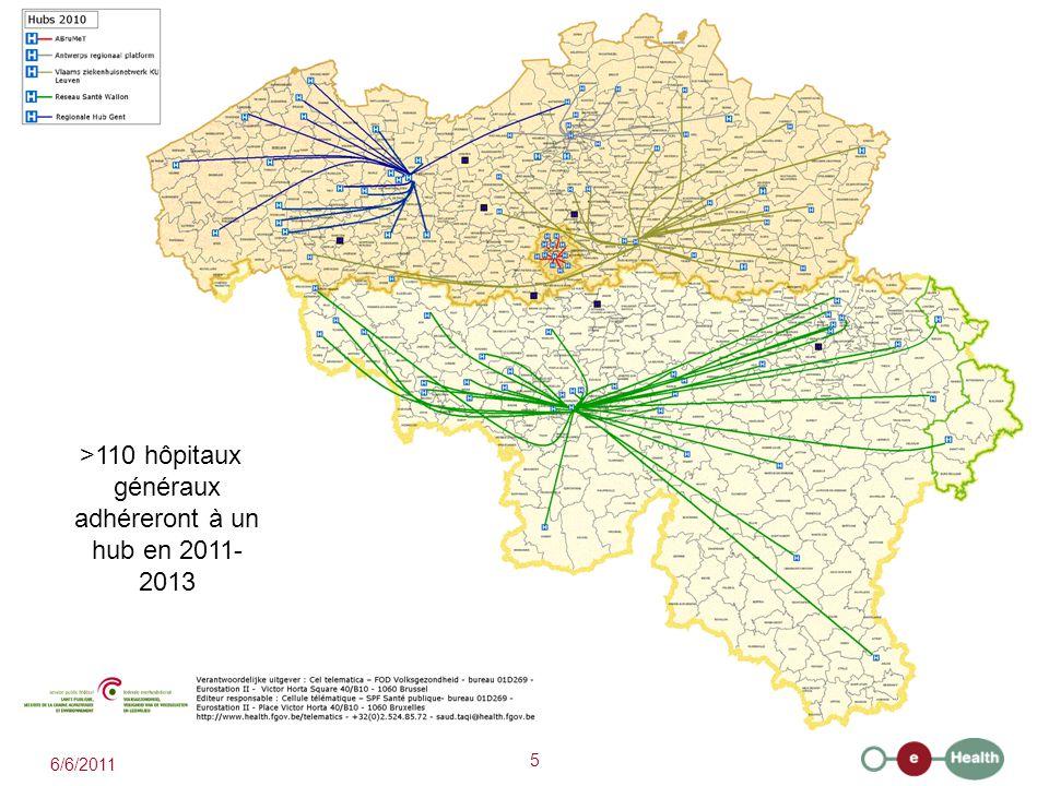 >110 hôpitaux généraux adhéreront à un hub en 2011-2013